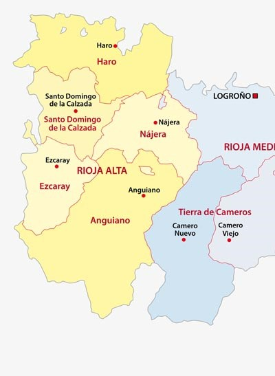la rioja administrative map